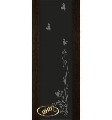 фото: Дверь Палермо, шпон мореный дуб, стекло черный триплекс рис.9