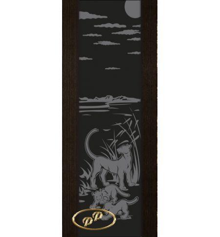фото: Дверь Палермо, шпон мореный дуб, стекло черный триплекс рис.3