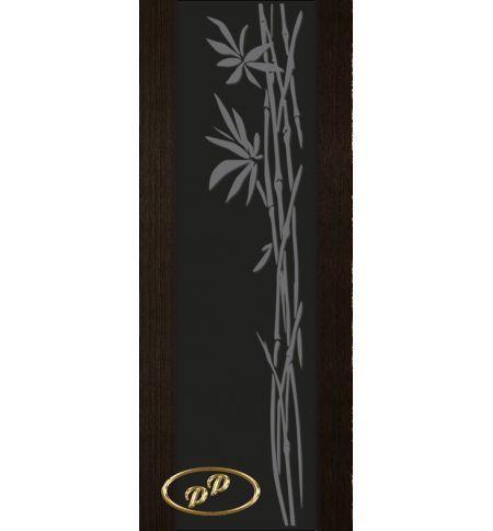 фото: Дверь Палермо, шпон мореный дуб, стекло черный триплекс рис.29