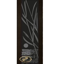 фото: Дверь Палермо, шпон мореный дуб, стекло черный триплекс рис.28