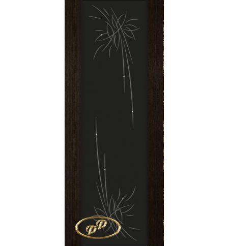 фото: Дверь Палермо, шпон мореный дуб, стекло черный триплекс рис.27