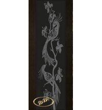фото: Дверь Палермо, шпон мореный дуб, стекло черный триплекс рис.26