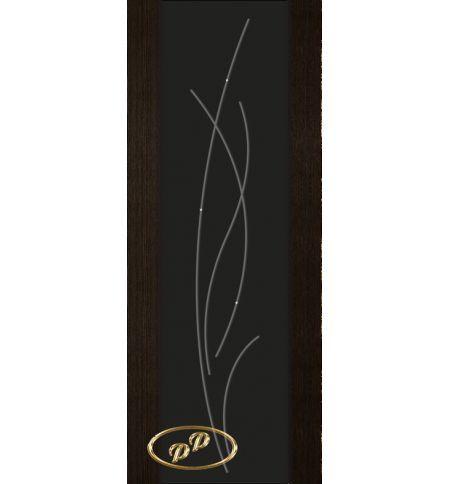 фото: Дверь Палермо, шпон мореный дуб, стекло черный триплекс рис.25