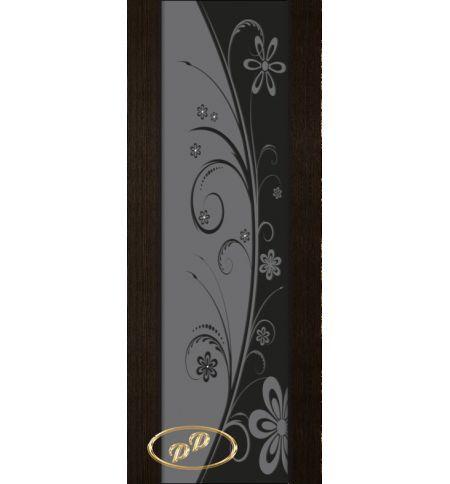 фото: Дверь Палермо, шпон мореный дуб, стекло черный триплекс рис.24