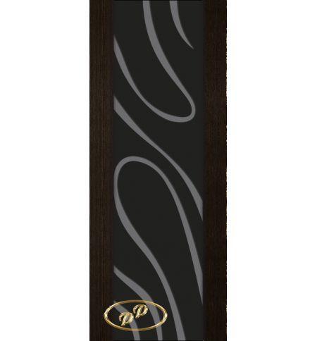 фото: Дверь Палермо, шпон мореный дуб, стекло черный триплекс рис.23