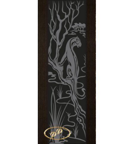 фото: Дверь Палермо, шпон мореный дуб, стекло черный триплекс рис.2