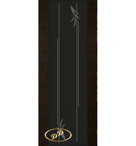 фото: Дверь Палермо, шпон мореный дуб, стекло черный триплекс рис.19