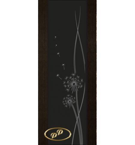 фото: Дверь Палермо, шпон мореный дуб, стекло черный триплекс рис.16