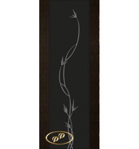 фото: Дверь Палермо, шпон мореный дуб, стекло черный триплекс рис.12