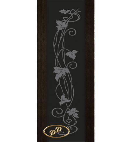 фото: Дверь Палермо, шпон мореный дуб, стекло черный триплекс рис.11