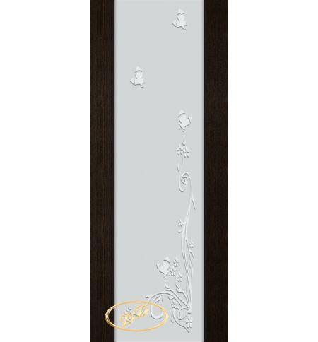 фото: Дверь Палермо, шпон мореный дуб, стекло белый триплекс рис.9