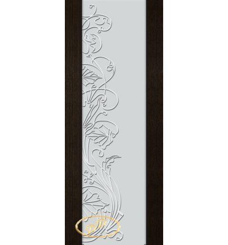 фото: Дверь Палермо, шпон мореный дуб, стекло белый триплекс рис.5