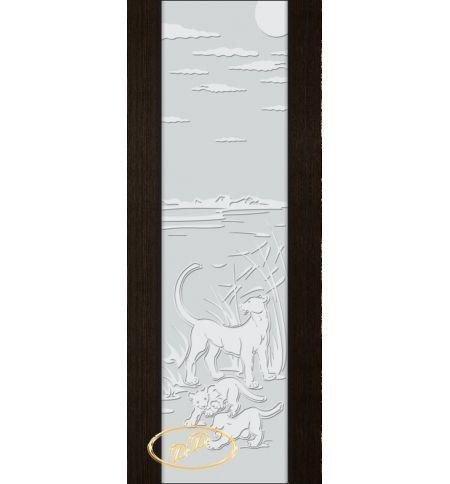фото: Дверь Палермо, шпон мореный дуб, стекло белый триплекс рис.3