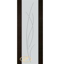фото: Дверь Палермо, шпон мореный дуб, стекло белый триплекс рис.25