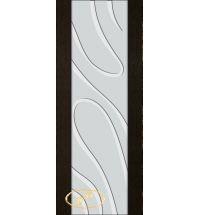 фото: Дверь Палермо, шпон мореный дуб, стекло белый триплекс рис.23