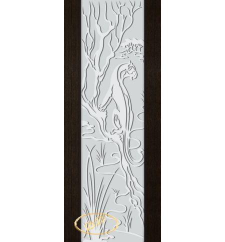 фото: Дверь Палермо, шпон мореный дуб, стекло белый триплекс рис.2