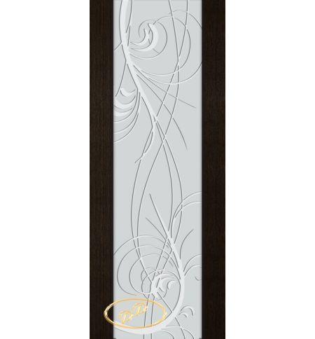 фото: Дверь Палермо, шпон мореный дуб, стекло белый триплекс рис.18