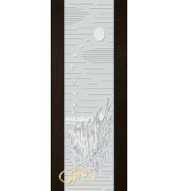 фото: Дверь Палермо, шпон мореный дуб, стекло белый триплекс рис.13
