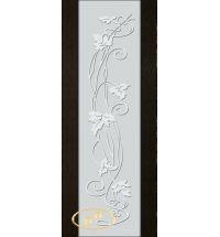 фото: Дверь Палермо, шпон мореный дуб, стекло белый триплекс рис.11