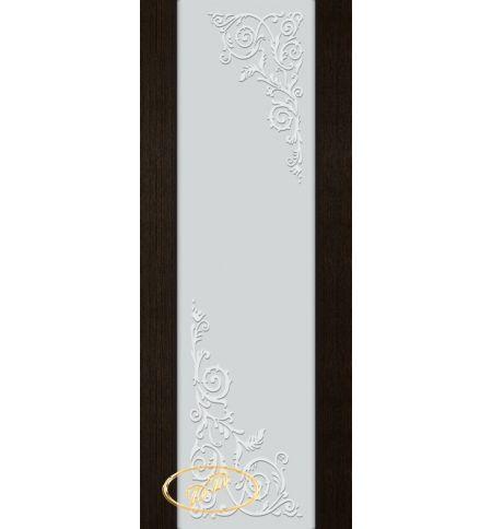 фото: Дверь Палермо, шпон мореный дуб, стекло белый триплекс рис.10