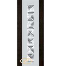 фото: Дверь Палермо, шпон мореный дуб, стекло белый триплекс рис.1