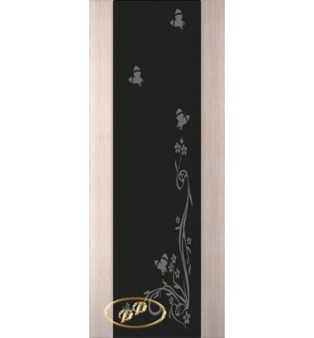 фото: Дверь Палермо, шпон беленый дуб, стекло черный триплекс рис.9