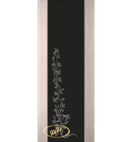 фото: Дверь Палермо, шпон беленый дуб, стекло черный триплекс рис.8