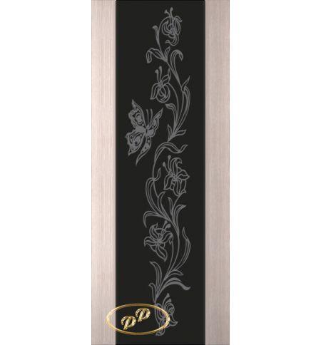 фото: Дверь Палермо, шпон беленый дуб, стекло черный триплекс рис.7