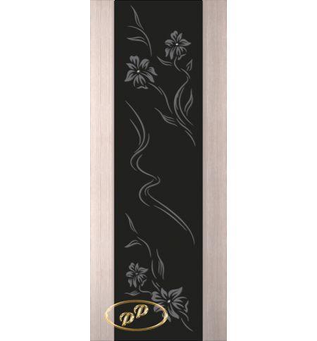 фото: Дверь Палермо, шпон беленый дуб, стекло черный триплекс рис.6