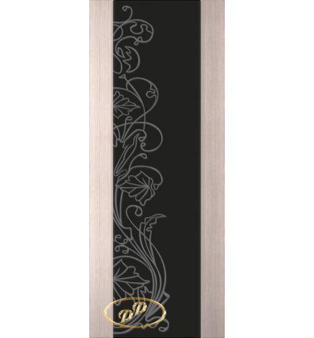 фото: Дверь Палермо, шпон беленый дуб, стекло черный триплекс рис.5