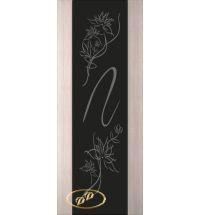 фото: Дверь Палермо, шпон беленый дуб, стекло черный триплекс рис.4