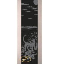 фото: Дверь Палермо, шпон беленый дуб, стекло черный триплекс рис.3