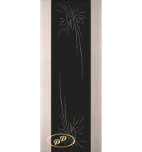 фото: Дверь Палермо, шпон беленый дуб, стекло черный триплекс рис.27