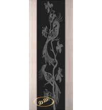 фото: Дверь Палермо, шпон беленый дуб, стекло черный триплекс рис.26
