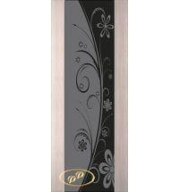 фото: Дверь Палермо, шпон беленый дуб, стекло черный триплекс рис.24