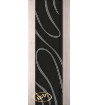 фото: Дверь Палермо, шпон беленый дуб, стекло черный триплекс рис.23