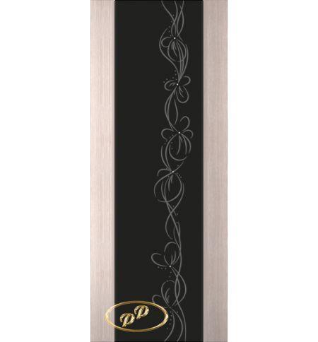 фото: Дверь Палермо, шпон беленый дуб, стекло черный триплекс рис.22