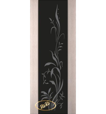 фото: Дверь Палермо, шпон беленый дуб, стекло черный триплекс рис.20