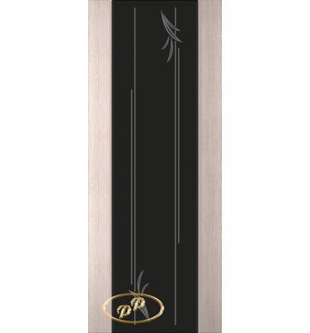 фото: Дверь Палермо, шпон беленый дуб, стекло черный триплекс рис.19