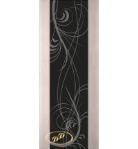 фото: Дверь Палермо, шпон беленый дуб, стекло черный триплекс рис.18