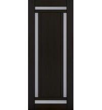 фото: Дверь Хай-тек модель №8, шпон мореный дуб стекло сатинат