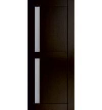 фото: Дверь Хай-тек модель №7, шпон мореный дуб стекло сатинат