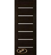 фото: Дверь Хай-тек модель №5, шпон мореный дуб стекло сатинат