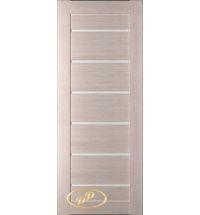 фото: Дверь Хай-тек модель №5, шпон беленый дуб стекло сатинат