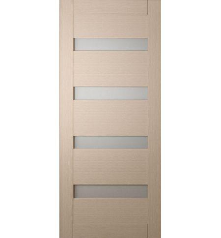 фото: Дверь Хай-тек модель №4, шпон беленый дуб стекло сатинат