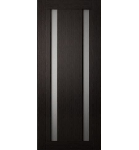 фото: Дверь Хай-тек модель №3, шпон мореный дуб стекло сатинат