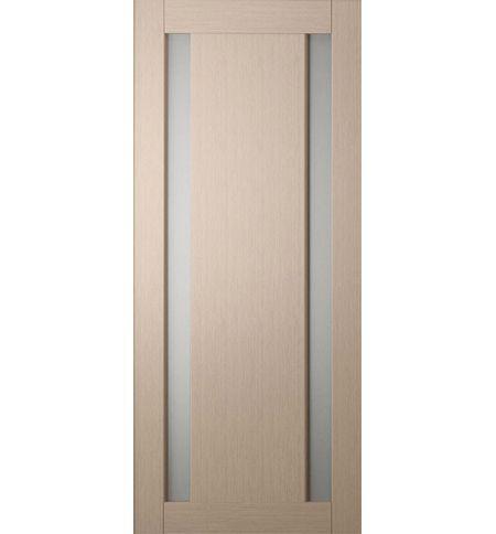 фото: Дверь Хай-тек модель №2, шпон беленый дуб стекло сатинат
