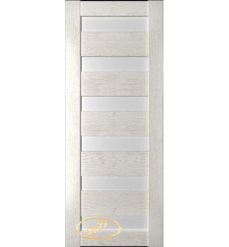 фото: Дверь Хай-тек модель №11, шпон натуральный дуб тон капучино, стекло сатинат