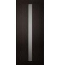 фото: Дверь Хай-тек модель №1, шпон мореный дуб стекло сатинат