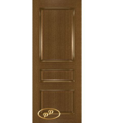 фото: Дверь Трио, шпон натуральный дуб тон ольха